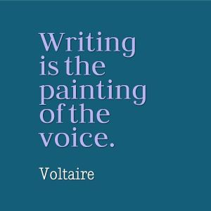 writing painting of voice_voltaire